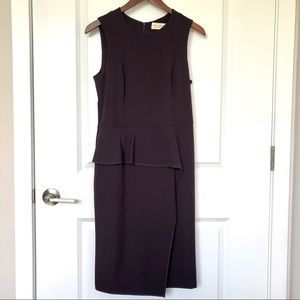MM Lafleur Sleeveless Ruffle Peplum Midi Dress